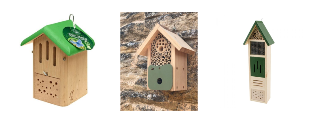 Kew Butterfly Habitat - Support Kew's restoration of natural habitats.   Bee Barn - Attract solitary bees and other pollinators.   Elba Insect Tower -  Give shelter to a variety of insect species.