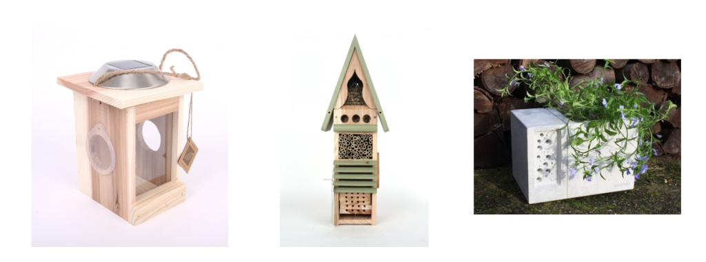Illuminated Minibeast Centre - Collect and study nocturnal insects, such as moths.  Insect Study Tower - Put in place an interactive insect study centre with four habitats.   Beepot - Provide safe nesting for solitary bees and space for nectar rich flowers.
